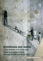 Cover image for Architecture and justice : judicial meanings in the public realm