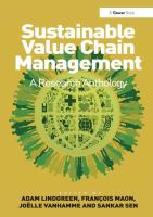 Cover image for Sustainable value chain management : a research anthology