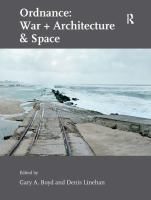 Cover image for Ordnance : war + architecture & space