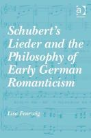 Cover image for Schubert's Lieder and philosophy of early German Romanticism