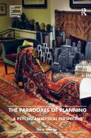 Cover image for The paradoxes of planning : a pyscho-analytical perspective