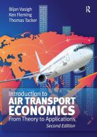 Cover image for Introduction to air transport economics : from theory to applications