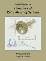 Cover image for Introduction to dynamics of rotor-bearing systems