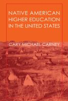 Cover image for Native American higher education in the United States