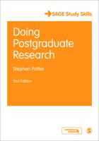Cover image for Doing postgraduate research