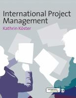 Cover image for International project mangagement
