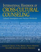 Cover image for International handbook of cross-cultural counseling : cultural assumptions and practices worldwide