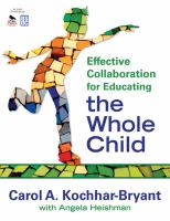 Cover image for Effective collaboration for educating the whole child