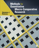 Cover image for Methods for quantitative macro-comparative research