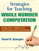 Cover image for Strategies for teaching whole number computation : using error analysis for intervention and assessment