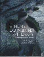 Cover image for Ethics in counseling & therapy : developing an ethical identity