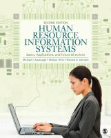 Cover image for Human resource information systems : basics, applications, and future directions