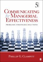 Cover image for Communicating for managerial effectiveness : problems, strategies, solutions