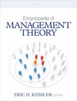 Cover image for Encyclopedia of management theory