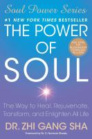 Cover image for The power of soul : the way to heal, rejuvenate, transform, and enlighten all life