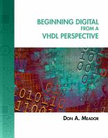 Cover image for Beginning digital from a VHDL perspective