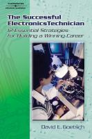 Cover image for The successful electronics technician : 12 essential strategies for building a winning career