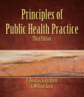 Cover image for Principles of public health practice