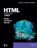 Cover image for HTML : complete concepts and techniques