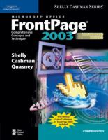 Cover image for Microsoft office FrontPage 2003 : omprehensive concepts and techniques