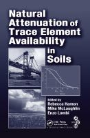 Cover image for Natural attenuation of trace element availability in soils
