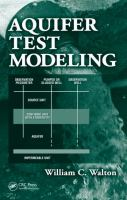 Cover image for Aquifer test modeling