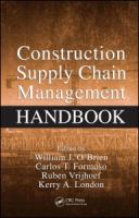 Cover image for Construction supply chain management handbook