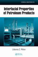Cover image for Interfacial properties of petroleum products