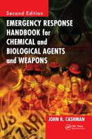 Cover image for Emergency response handbook for chemical and biological agents and weapons