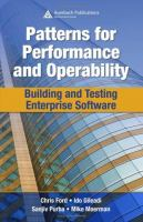 Cover image for Patterns for performance and operability : building and testing enterprise software