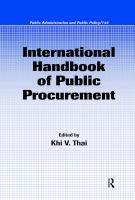 Cover image for International handbook of public procurement