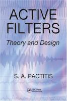 Cover image for Active filters : theory and design