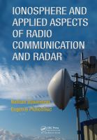Cover image for Ionosphere and applied aspects of radio communication and radar