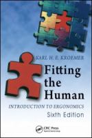 Cover image for Fitting the human : introduction to ergonomics