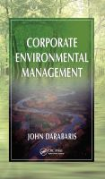 Cover image for Corporate environmental management