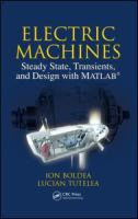 Cover image for Electric machines steady state, transients, and design with MATLAB
