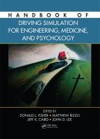Cover image for Handbook of driving simulation for engineering, medicine, and psychology