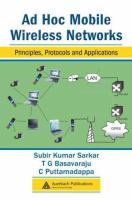 Cover image for AD Hoc mobile wireless networks : principles, protocols and applications