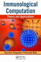 Cover image for Immunological computation : theory and applications