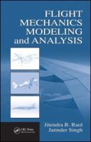 Cover image for Flight mechanics modeling and analysis