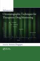 Cover image for Advances in chromatographic techniques for therapeutic drug monitoring