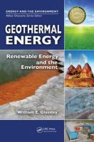 Cover image for Geothermal energy : renewable energy and the environment