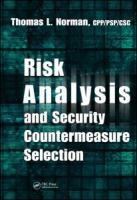 Cover image for Risk analysis and security countermeasure selection