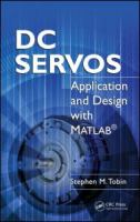 Cover image for DC servos : application and design with MATLAB