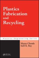 Cover image for Plastics fabrication and recycling