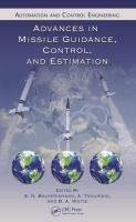 Cover image for Advances in missile guidance, control, and estimation