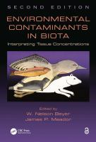 Cover image for Environmental contaminants in biota : interpreting tissue concentrations