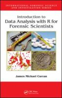 Cover image for Introduction to data analysis with R for forensic scientists