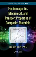 Cover image for Electromagnetic, mechanical, and transport properties of composite materials
