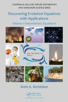 Cover image for Discovering evolution equations with applications